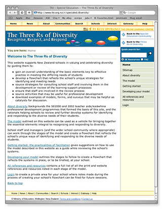 Three Rs of Diversity - homepage