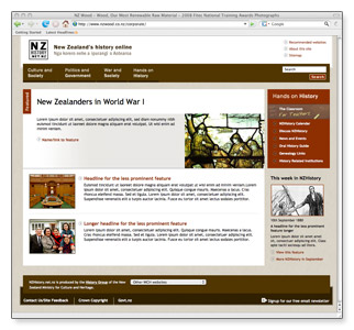 NZHistory - homepage