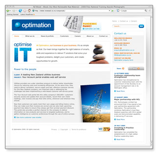 Optimation - homepage