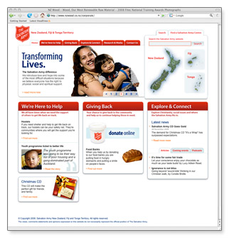 Salvation Army - homepage