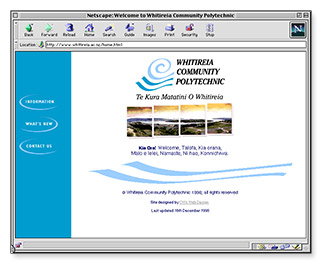 Whitireia Polytechnic - homepage